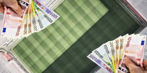 billets euros terrain de foot